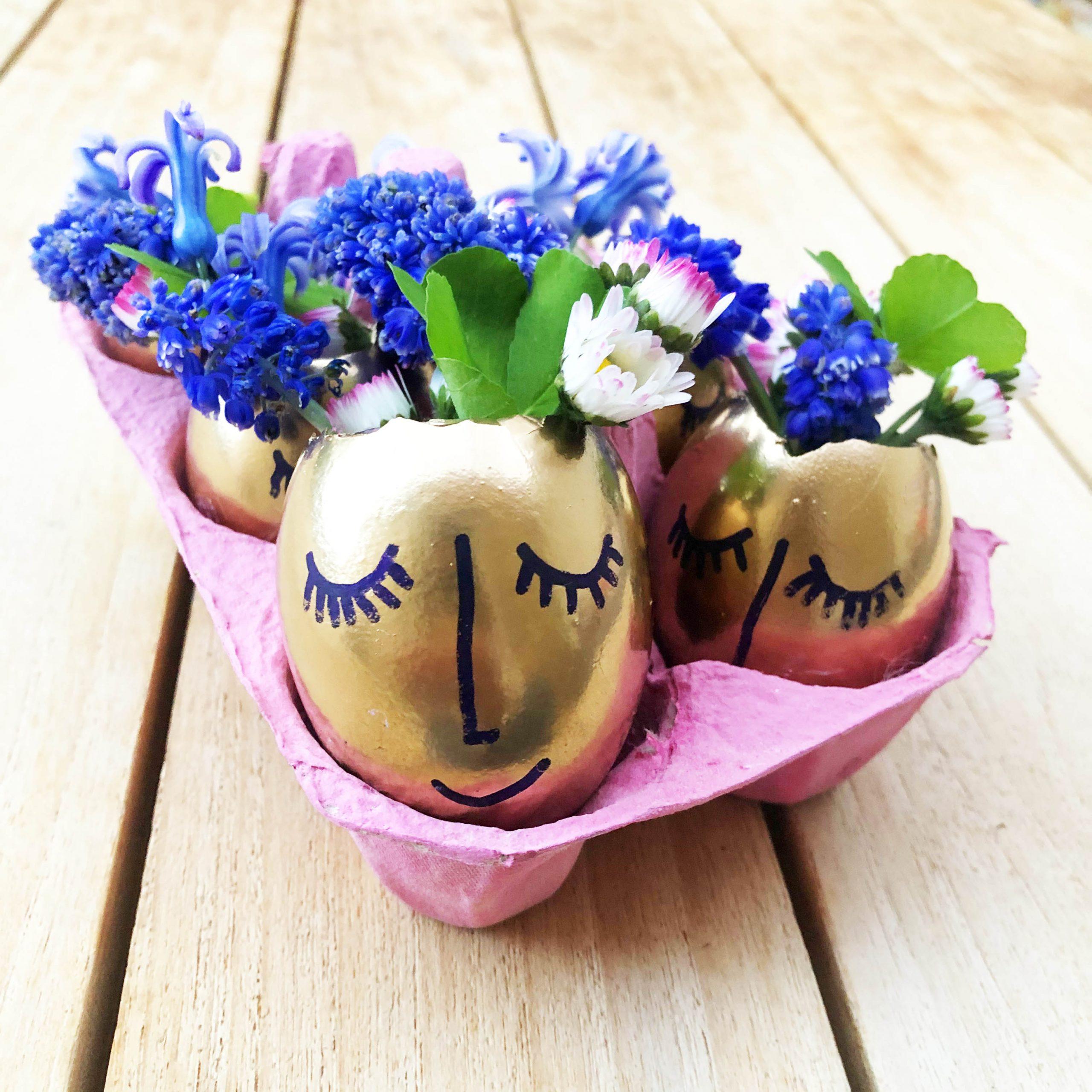 DIY Oeufs de Pâques avec fleurs